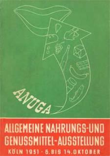 Portada del catálogo de ANUGA 1951. ©Koelnmesse GmbH.